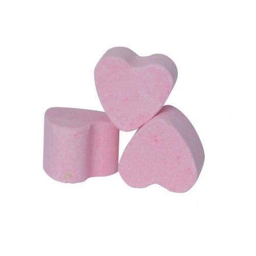 30 x Pink Strawberry Mini Bath Hearts Fizzers Bath Bubble & Beyond 10g Each