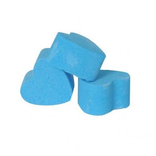30 x Seakay Blue Mini Bath Hearts Fizzers Bath Bubble & Beyond 10g