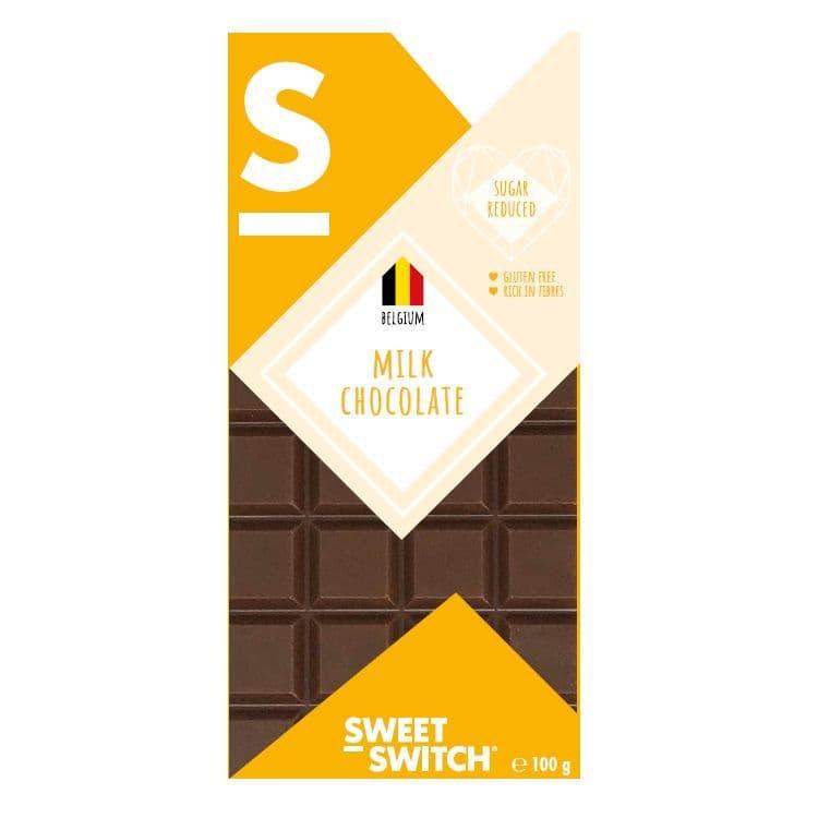 36% Milk Belgian Chocolate Bar No Added Sugar Gluten Free Stevia Sweet Switch 100g