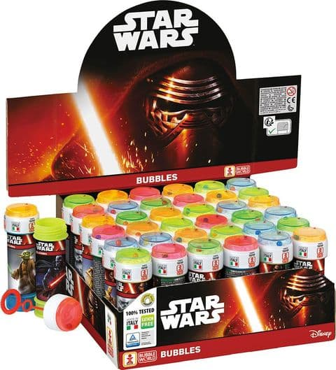 36 x Star Wars - Puzzle Maze Tub Bubbles 60ml Wholesale Bulk Buy