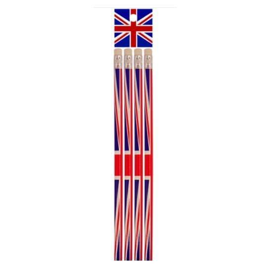 4 x Lead Pencils - Union Jack Party  Henbrandt