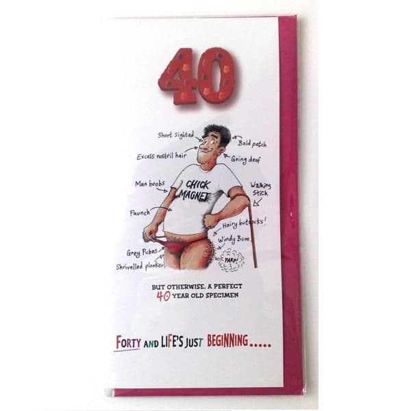 40 For HIM - Funk Tart - Witty Age Birthday Greetings Card