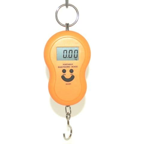 40kg Portable Electronic Scales For Luggage Postage Fishing etc (Assorted Colours)