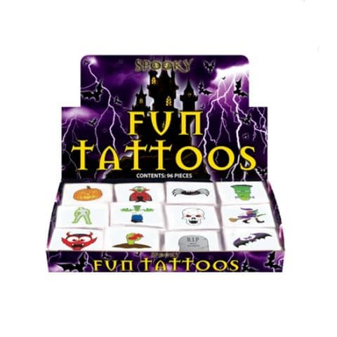 48 x Halloween - Packs of 12 Mini Tattoos Wholesale Box