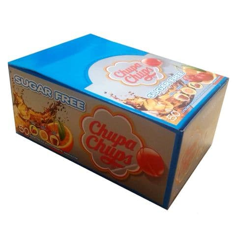 50 x Sugar Free Chupa Chups Lollipop Sweets Lolly 11g Wholesale Box