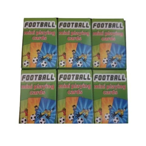 6 x  Football Themed Mini Packs Playing Cards Henbrandt
