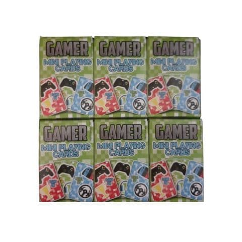 6 x  Gamer Themed Mini Packs Playing Cards Henbrandt