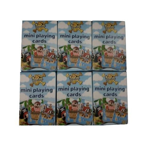 6 x  Pirate Themed Mini Packs Playing Cards Henbrandt