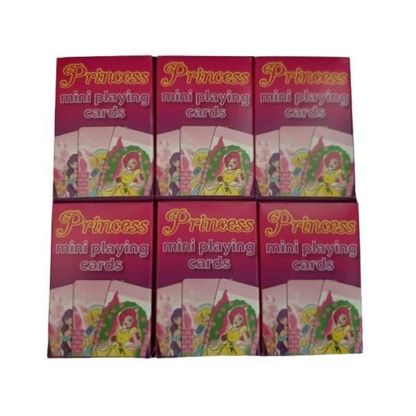 6 x  Princess Themed Mini Packs Playing Cards Henbrandt