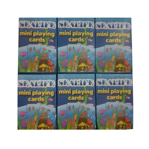 6 x  Sealife Themed Mini Packs Playing Cards Henbrandt