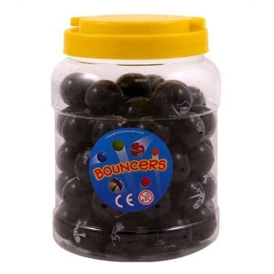 60 x Pirate Skull Crossbones - Small Black Bouncy Balls Wholesale Bulk Buy