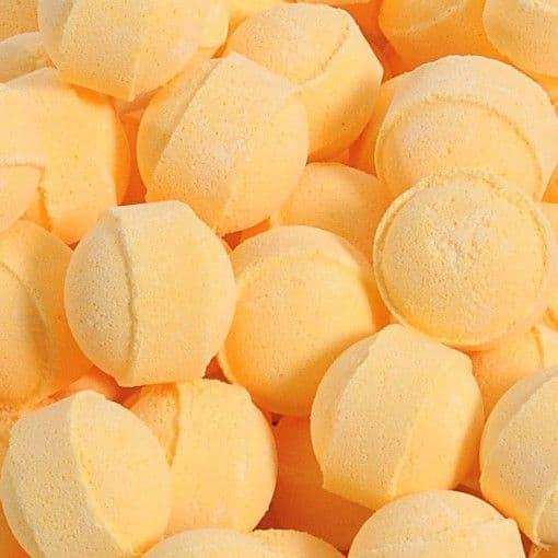 70 x Lemon Mini Bath Marbles Fizzers Bath Bubble & Beyond 10g