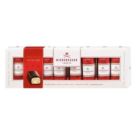 8 x Classic Dark Chocolate Marzipan Mini Loaves Niederegger 100g