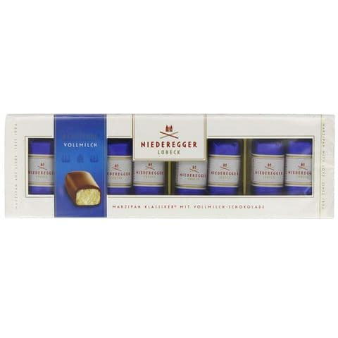 8 x Classic Milk Chocolate Marzipan Mini Loaves Niederegger 100g