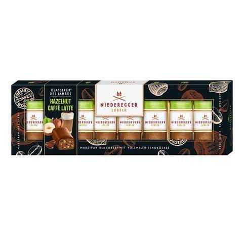 8 x Hazelnut Caffe Latte Milk Chocolate Marzipan Mini Loaves Niederegger 100g