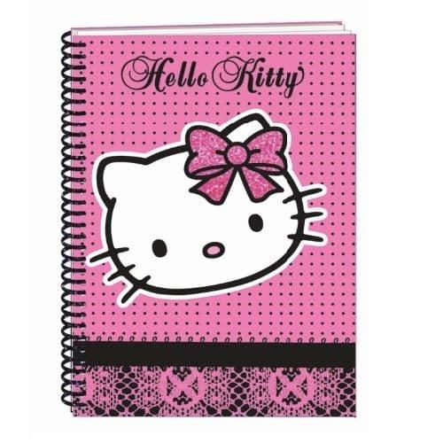 A5 Hardback Spiral Notebook HELLO KITTY Lace Stationery (Blueprint)