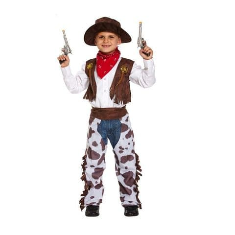 Age 7-9 Medium BOYS Childs Cowboy Wild WIld West Fancy Dress Costume