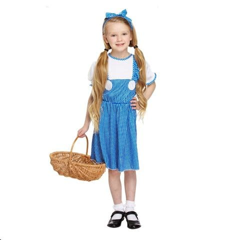 Age 7-9 Medium GIRLS Childs Country Girl Dorothy Fancy Dress Costume