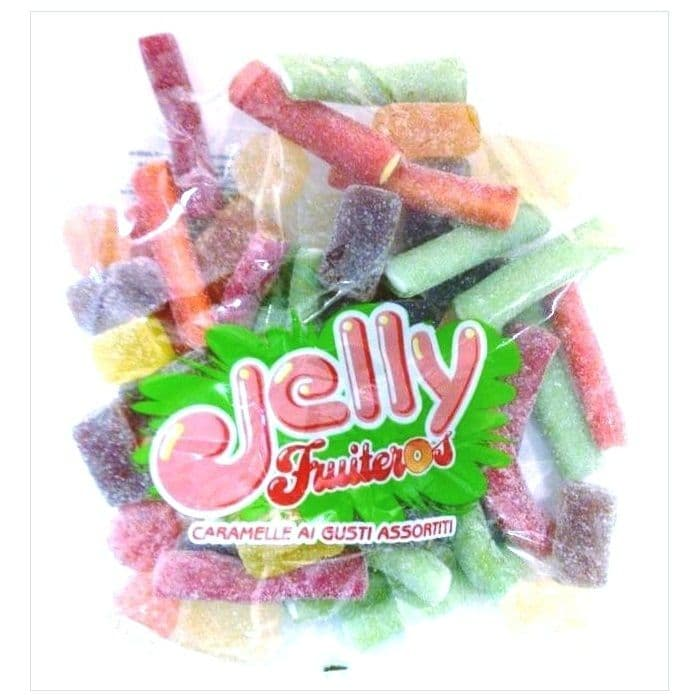 Assorted Fruit Jellies & Sour Sticks - Gelco Italian Sweets Jelly Fruiteros 300g