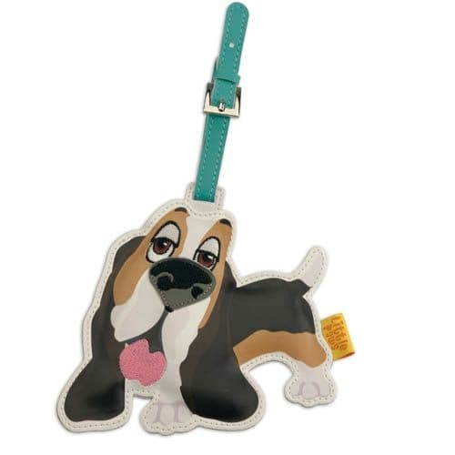 BASSETT HOUND Dog Fun Luggage Tags by Little Paws