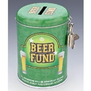 BEER FUND - Money Savings Tin & Padlock