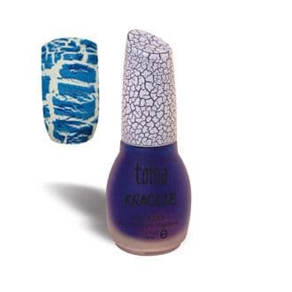BLUE 04 Crackle Nail Art Polish Varnish - Krackle Toma Mad Beauty