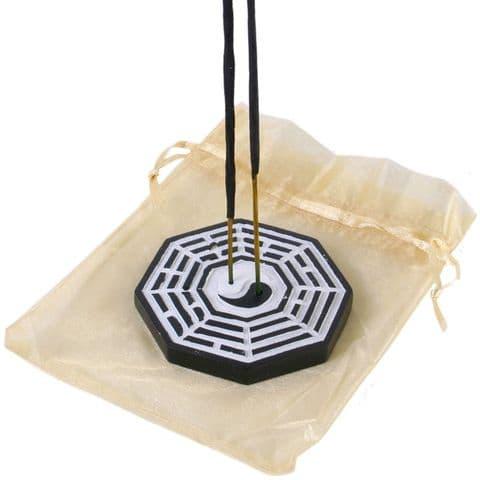 Bagwa Hex Fen Shui Yin Yang Incense Sticks Holder