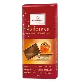 Baked Apple Milk Chocolate Marzipan NIEDEREGGER LUBECK Bar 100g