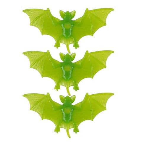 Bats Window Suckers - Spooky Green Halloween Fun - Pack of 3