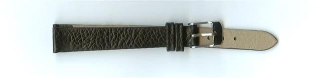 Black Skin Print Leather Watch Strap 12mm (Silver Buckle)