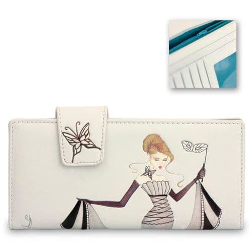 Blue Glass Slipper - Leatherette Ladies Wallet / Purse - Yvette Jordan by VANITY FAIR