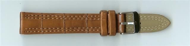 Brown Leather Watch Strap 18mm (Silver Buckle)