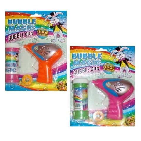 Bubble GUN Bubble Magic BLOW BUBBLES - PINK or ORANGE