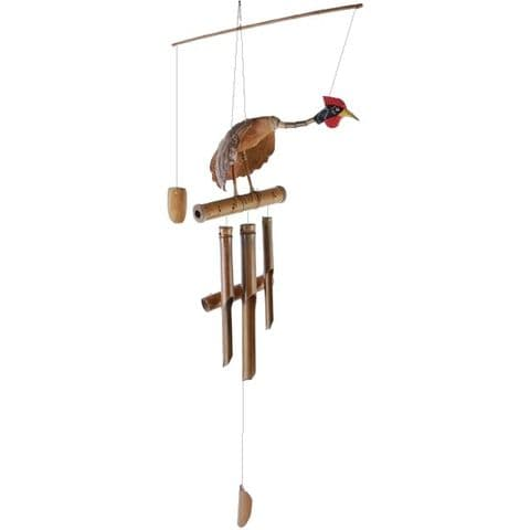Chicken - Bamboo Wooden Bali Wind Chimes Pipes