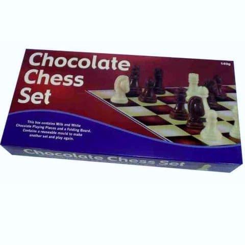Chocolate Chess Set - Novelty Milk & White Chocolates 140g