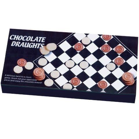 Chocolate Draughts Checkers Set - Novelty Milk & White Chocolates 140g