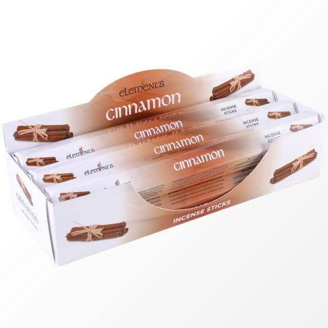 Cinnamon Scented Incense Sticks Elements Indian - Tube Of 20