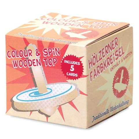 Colour & Spin Wooden Spinning Top  - Arts & Craft Toy