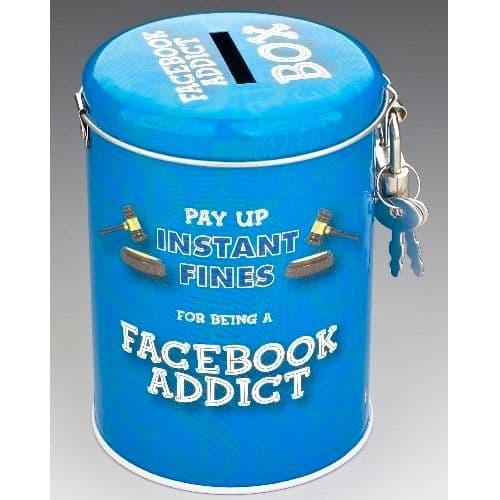FACEBOOK ADDICT - Instant Fines Tin & Padlock