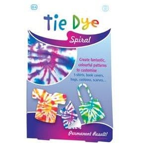 Fabric Tie Dye Kit - Permanent Arts & Crafts For T Shirts, Bags etc