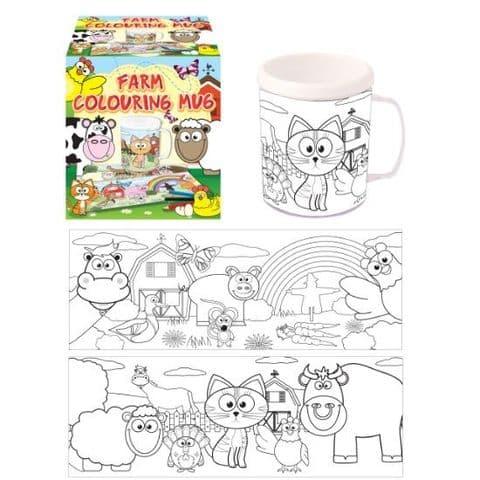 Farm Colouring Mug - Colour Your Own Arts & Crafts