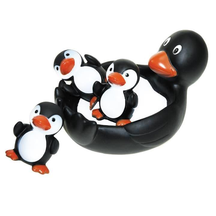 Floaty Families Bath Toy - Bathtime Rubber PENGUINS - Set of 4