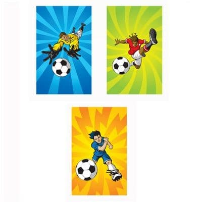 Football Notebook Notepad Jotter - Boys & Girls Party Bag Fillers