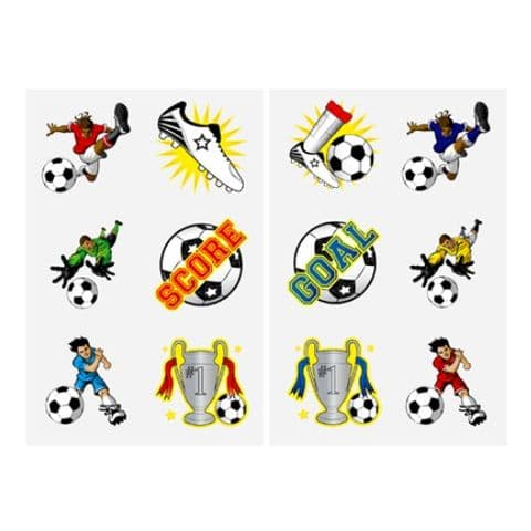 Football  - Pack of 12 Mini Tattoos