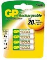 12 x GP Recyko+ AA 2600 mAh series batteries Rechargeable