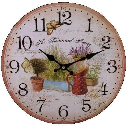 Garden 75711 - Large Rustic Retro Kitchen Wall Clock 34cm