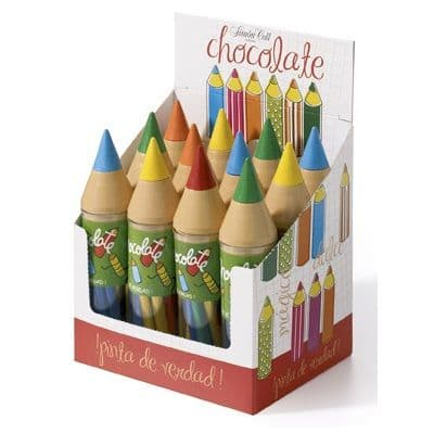 Giant Chocolate Crayon Novelty Chocolates (Box of 10 Pencils) 30g