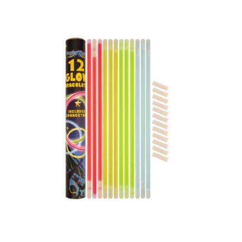 Glowstick Bracelets - Pack of 12 Tubes & Connectors