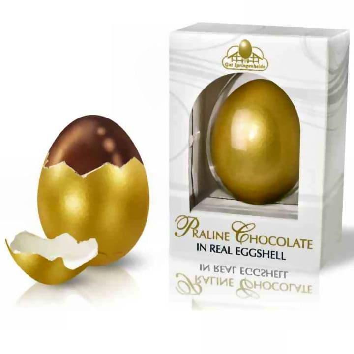 Golden Real Eggshell Praline Chocolate Easter Eggs - 50g