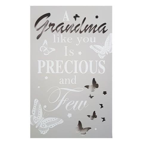 Grandma - Light Up LED Sentimental Wooden Wall Word Art by David Fischhoff